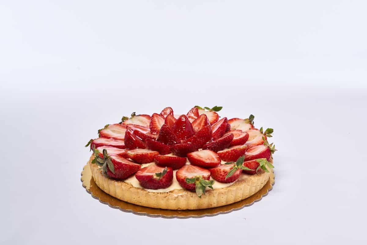 Organica Cafe Strawberry Flan