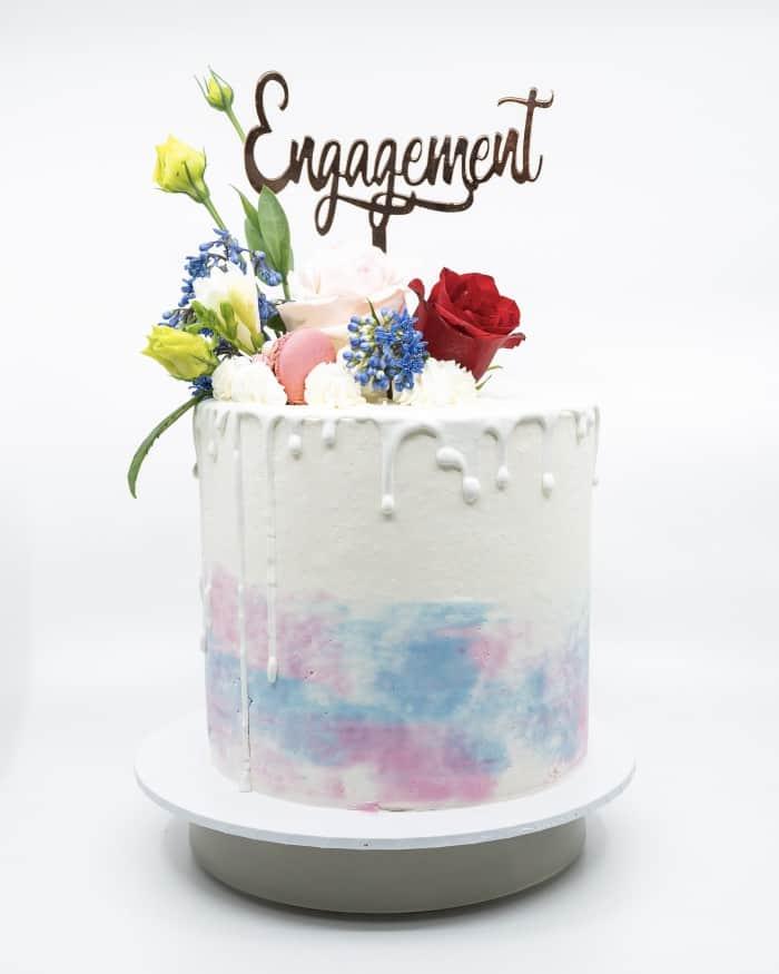 1 tier solid ombre vanilla buttercake