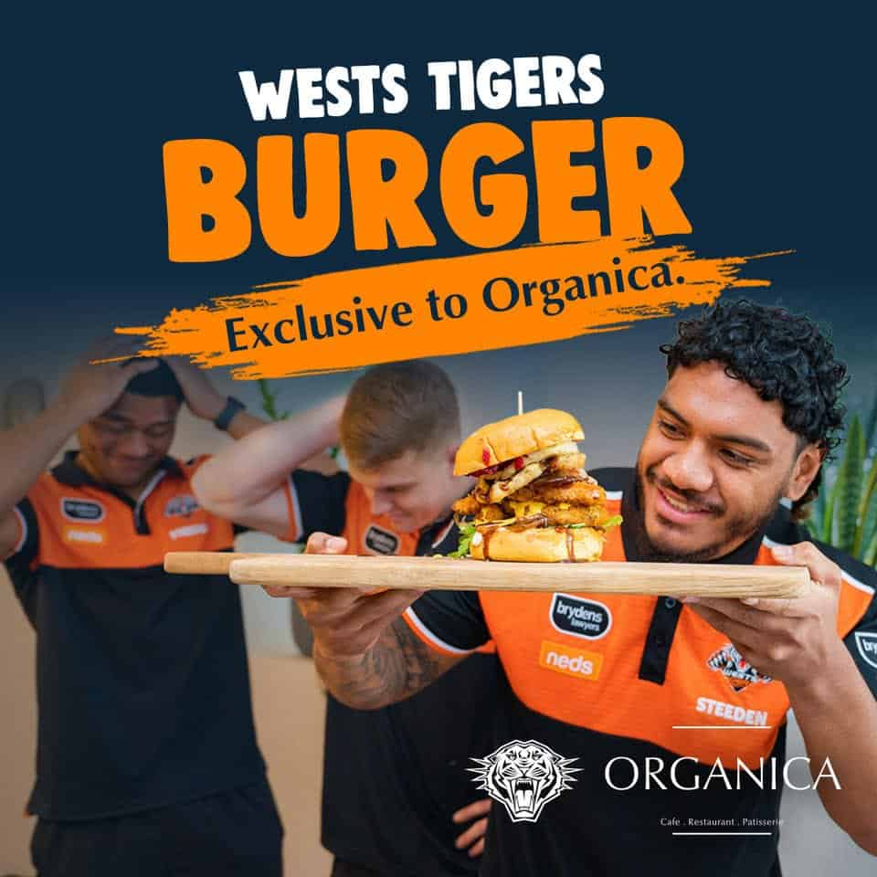 Wests Tigers Burger on board