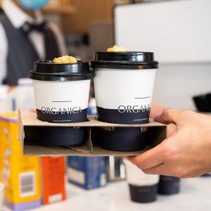 Organica Leichhardt takeaway coffees